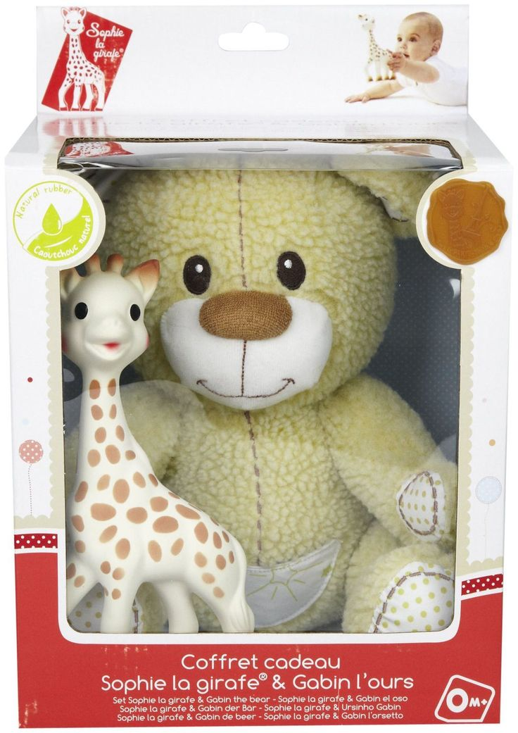 Vulli Sophie Giraffe Teether and teddy bear gift set find it and more Sofie Giraffe items @ Bedtime Baby