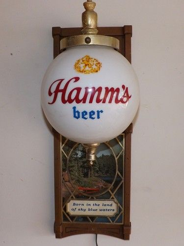 "Vintage Hamms ""Lighted"" Beer Sign                                                                                                                                                                                 More"