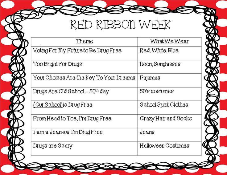 Kindergarten Korner: Red Ribbon Week
