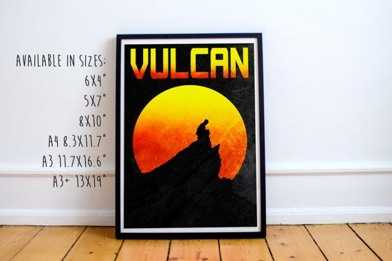 Vulcan retro style travel poster This is also available as part of a Star Trek planet set from the link below; ➤ http://etsy.me/1VOPZmX  --------------------------------------------------------------------------------------- For any print on Canvas follow this link ➤ http://etsy.me/2aWCSOH For money saving sets visit this link ➤ http://etsy.me/1W4l4V2  Please visit our store to see our other items; ➤ http://etsy.me/1QjyC6L ----------...