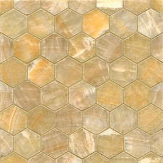 Sweet Honey Onyx Hexagon Mosaic Polished Tiles (Box of 10 Sheets) | Overstock.com Shopping - Big Discounts on Floor Tiles