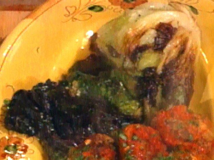 Stuffed Escarole (Scarola Ripiena) recipe from Mario Batali via Food Network