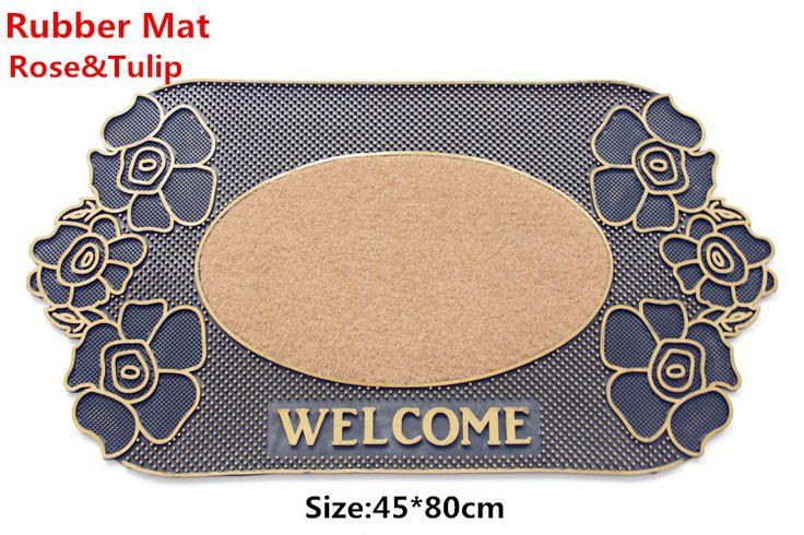 ==> [Free Shipping] Buy Best High quality Rubber Rose flower Tulip Water absorption mat door mat carpet Bath mat kitchen Welcome MATS home decoration Online with LOWEST Price | 32311820659