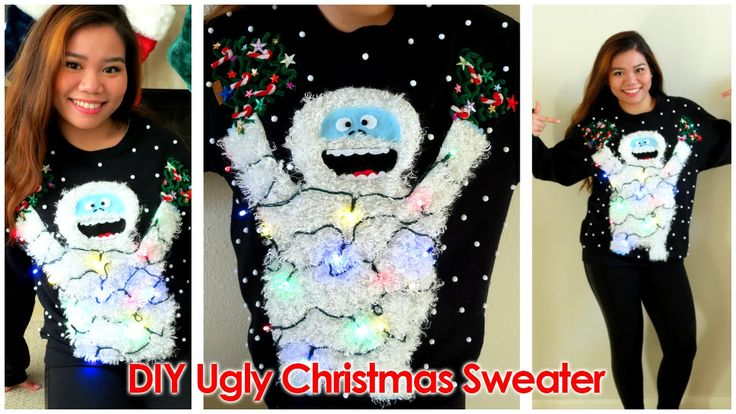 In honor of National Ugly Christmas Sweater Day, I bring you ANOTHER UGLY CHRISTMAS SWEATER!!! Meet the Abominable Snowmonster of the North! Blogpost: http:/...