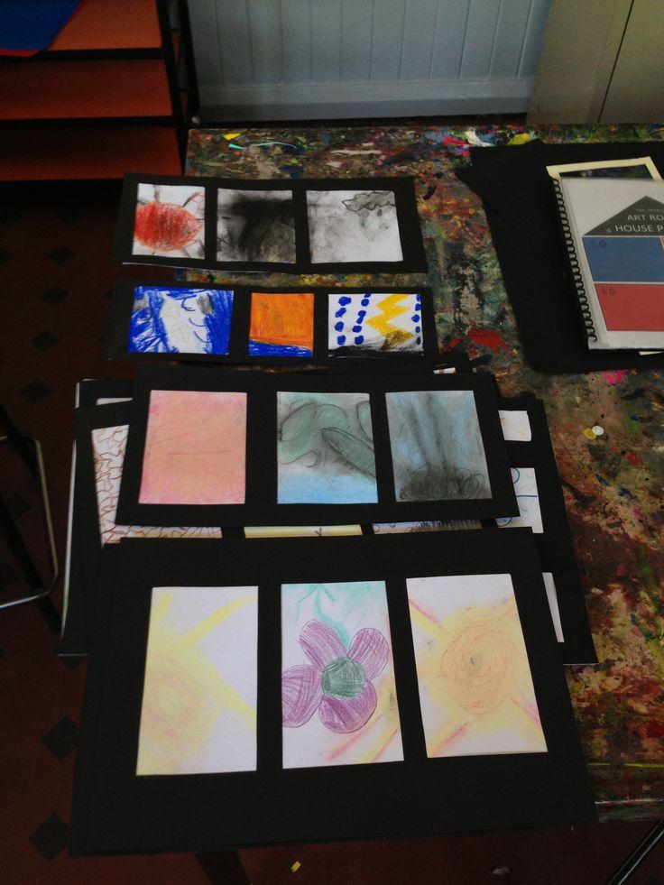 Weather triptych + medium study //  Grade 1/2