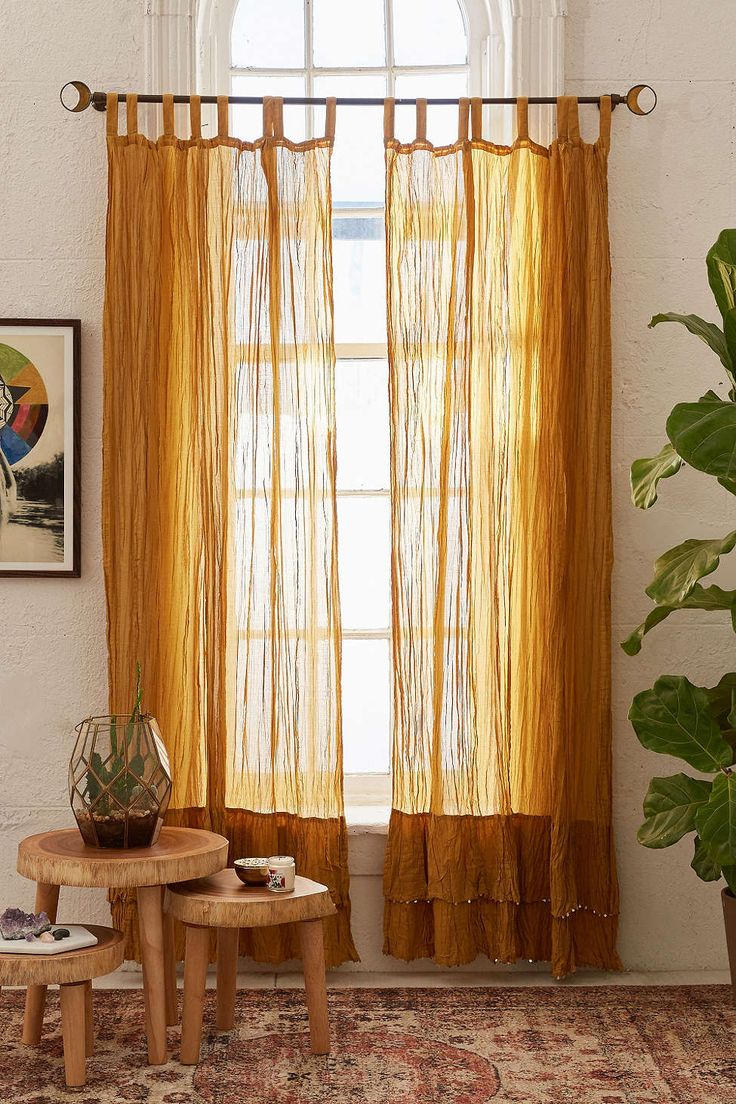 Curtain Panels For Window Closer To A Wall