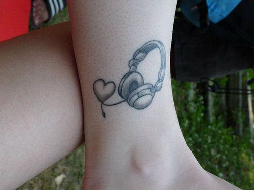 dj headphones tattoo - Google Search