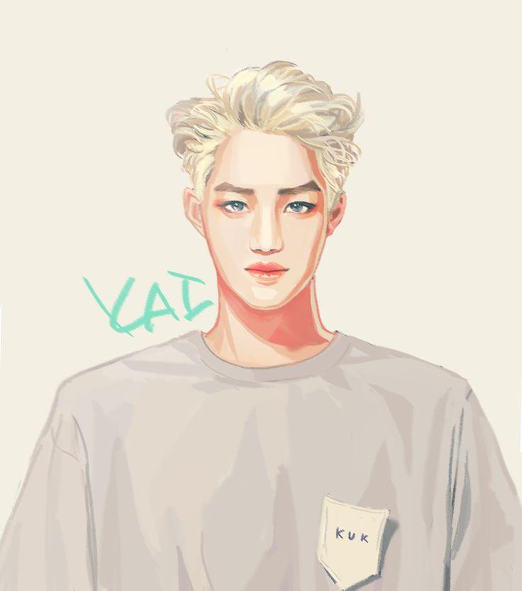 Kai EXO fanart @ Stardium | Kai | Pinterest | Fanart ... Exo Kai Fanart
