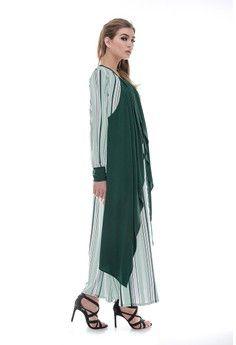 Wanita > Baju Muslim > Dress Muslim > Gamis > Evania Stripe Film EB > Le Najwa