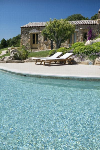 Relais & Chateaux - Tiny traditional stone houses, tucked away in five hectares of forest, in the shade of juniper bushes and holm oaks, have been converted into sophisticated rooms where you can while away your time in peace and quiet. Petra Segreta Resort & Spa ITALY #relaischateaux #pool