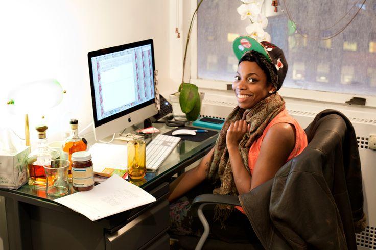 Sasheer Zamata takes a quick break from writing sketches   Saturday Night Live Writers' Night