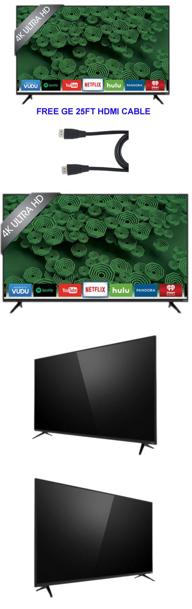 Smart TV: Vizio D-Series D50u-D1 50 2160P 4K Led Smart Tv Built In Wifi 25Ft Hdmi BUY IT NOW ONLY: $379.95