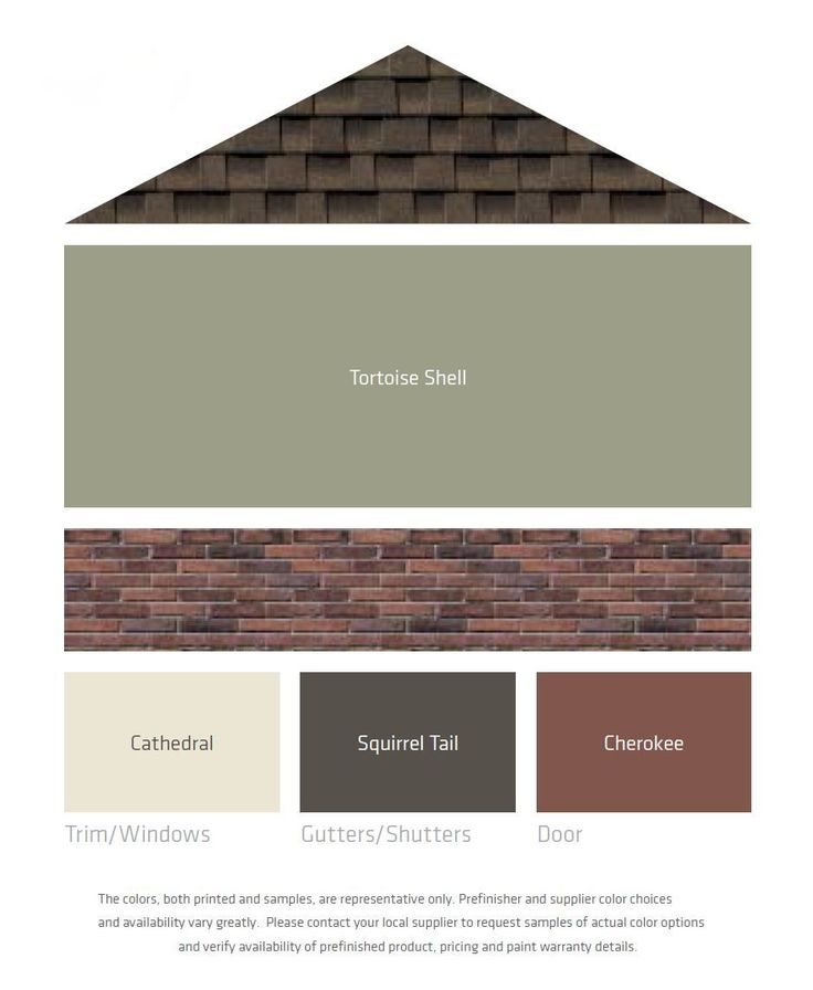 The perfect paint schemes for house exterior brown roofs - Exterior brick and siding combinations ...