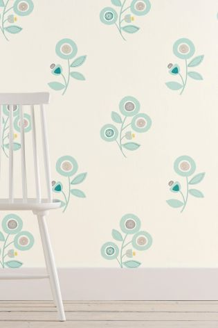 Retro Floral Wallpaper from Next