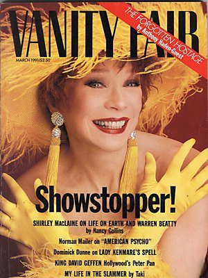 Shirley MacLaine - Vanity Fair Magazine [United States] (March 1991)