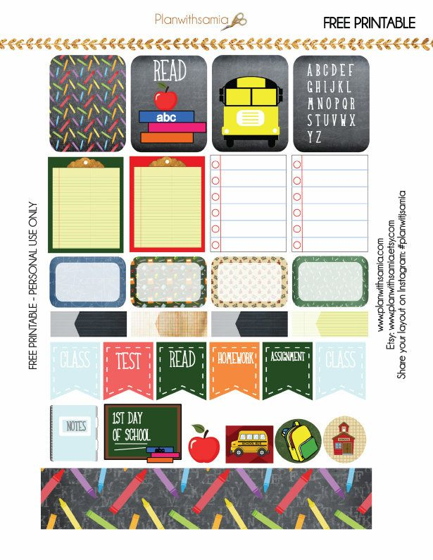 Back to School Planner Printable
