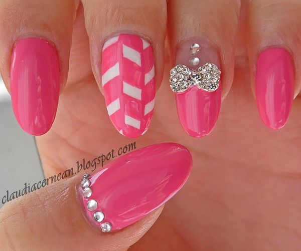 Metallic Bow Nails