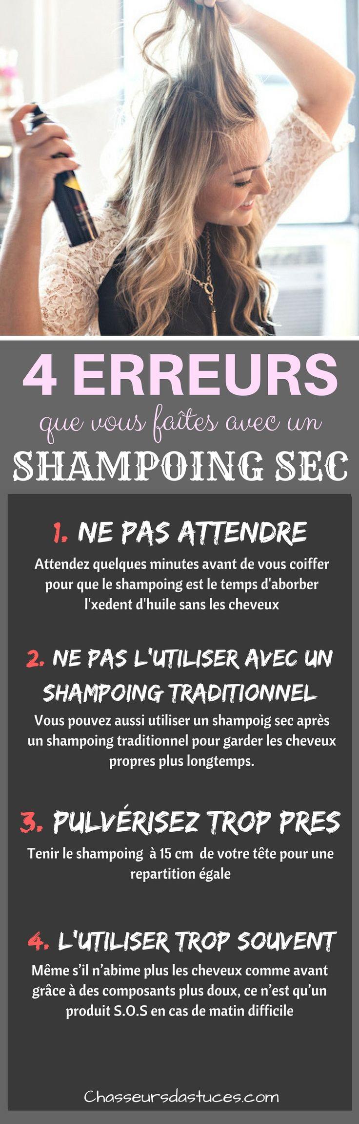 Le shampoing sec ? C'est la 8e merveille du monde ! L'idée de mettre de la poudre dans un spray pour absorber l'huile, c'est tout simplement génial. C'est une torture de se laver, de se sécher et de se coiffer les cheveux tous les jours. Le shampooing sec nous sauve de beaucoup d'heures sous la chaleur de notre sèche-cheveux.
