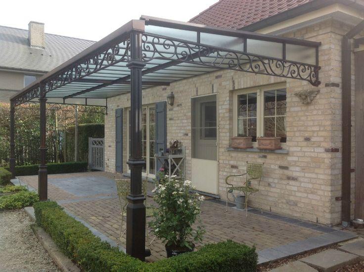 Veranda in smeedwerk terrasoverkapping smeedwerk de luwte for Pergola policarbonato
