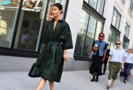black trench street style