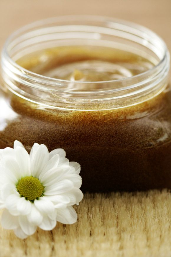 DIY Body Sugar Scrub: For a simple exfoliator, blend together 3 tablespoons of extra virgin olive oil, 2 tablespoons of honey and 1/2 cup of brown sugar.  Scrub on feet, arms, legs. Best to use in the shower. If you make bulk, store in fridge for up to a week!