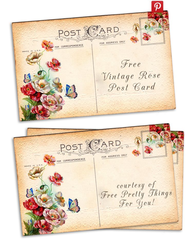 Top 25+ best Printable postcards ideas on Pinterest | Postcards, Vintage paper and Free scrabble
