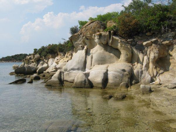 Impressive rocks at Diaporos island, Vourvourou Halkidiki