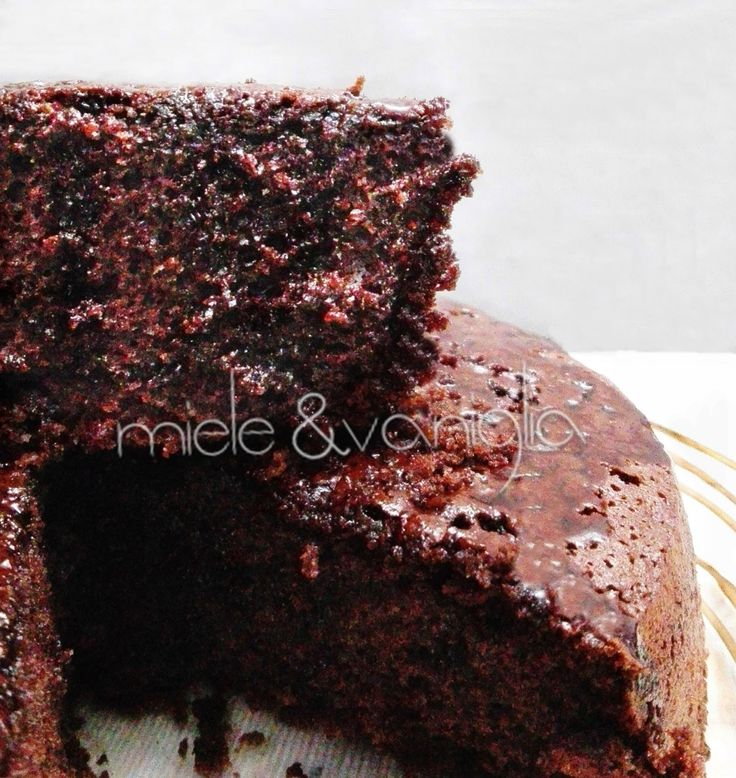 Torta Affogata al Caffè variante della Torta Ubriaca al Vino Rosso