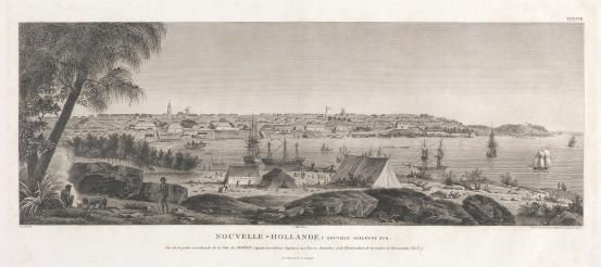 New Holland: New South Wales. View of the southern part of the town of Sydney