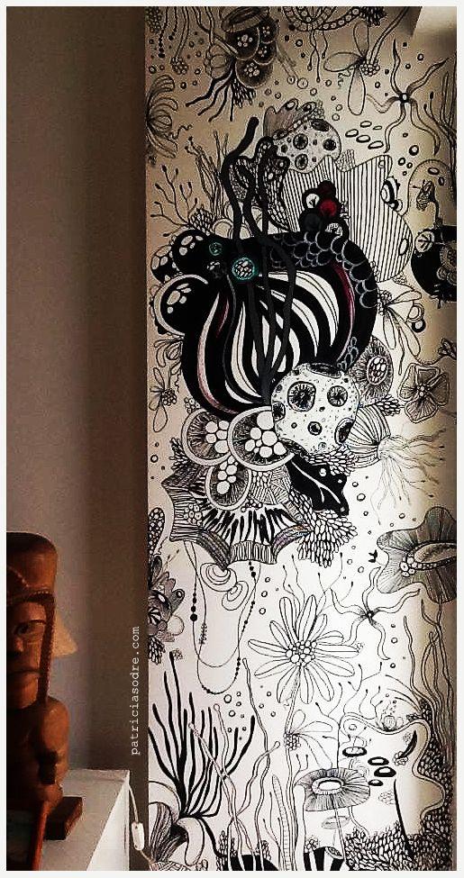 Deep Sea - Wall Painting - Rio de Janeiro by Patricia Sodré, via Behance