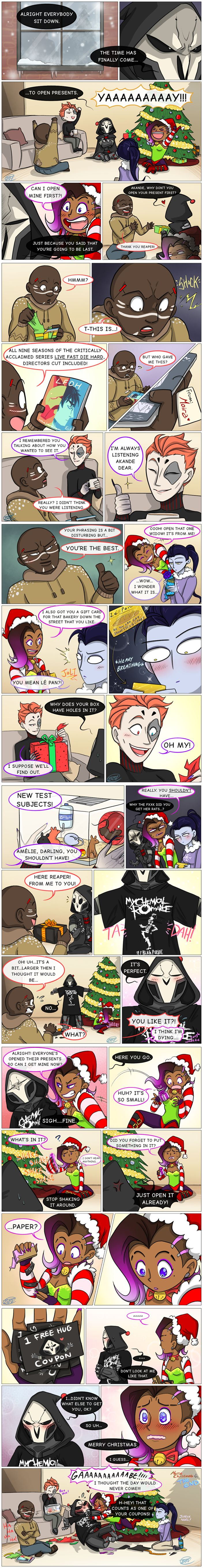 They may be terrorists and murderers (and a hacker), but Talon takes Secret Santa very seriously.