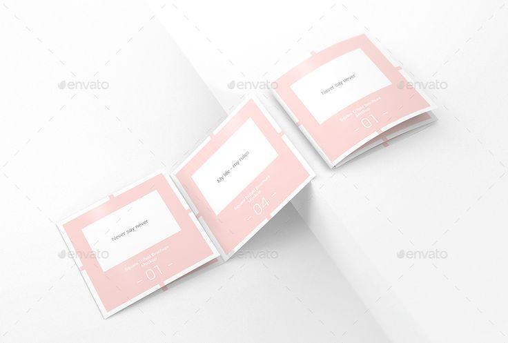 Square Trifold Brochure Mockups   #brochure, #flyer, #flyer mockup, #fold, #folded, #identity, #invitation, #invite, #marketing, #mockup, #mockups, #photorealistic, #square, #square trifold, #tri fold, #tri-fold, #tri-fold mock-up, #trifold, #visual identity