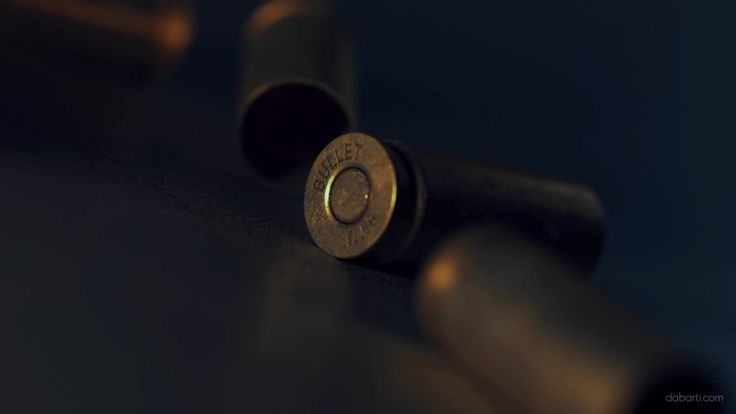 Close-up Of 9mm Bullet Casings Falling Down. Rendered with V-Ray RT GPU in Autodesk 3ds max. Falling Bullet Shells from Studio Dabarti. Selection of clips from February 2016. Our complete RF portfolio you can find here: www.shutterstock.com www.dissolve.com www.pond5.com  More info: dabarti.com/royalty-free-cgi-stocks/ facebook.com/DabartiCGI instagram.com/dabarti_cgi/
