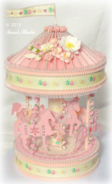 Vintage Carousel with cutting file and assembly instructions | Cutting Files | Paper Crafting Projects | Tara's Craft Studio: