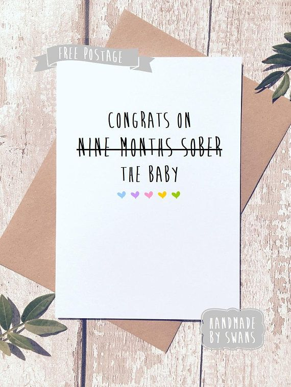 Funny new baby card, new parents, card for couple, congratulations