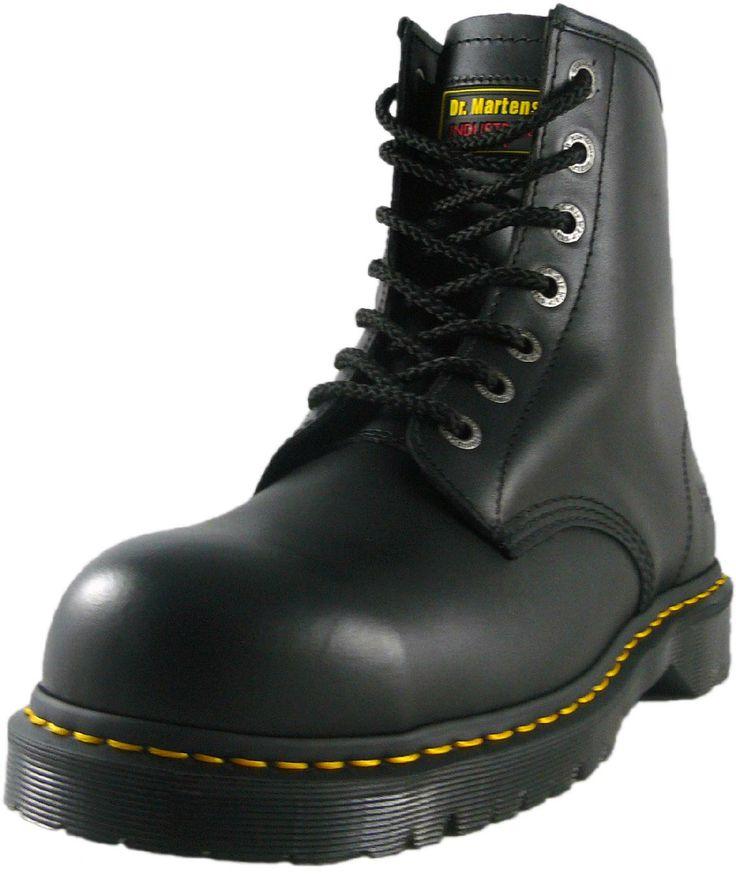 Doc  Marten / Dr Martens 7B10 7 Eyelet Steel Toes Safety Work Boot - Black