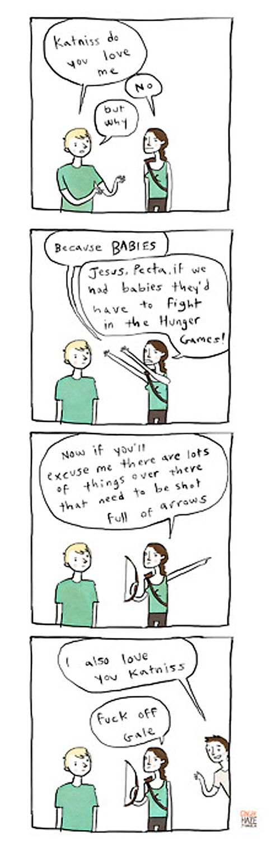 Hunger Games humor, in short comic form. :)