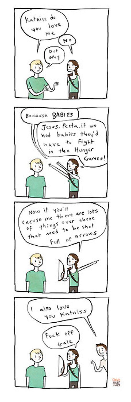 "Giggle-Inducing ""Hunger Games"" Parody Comics"