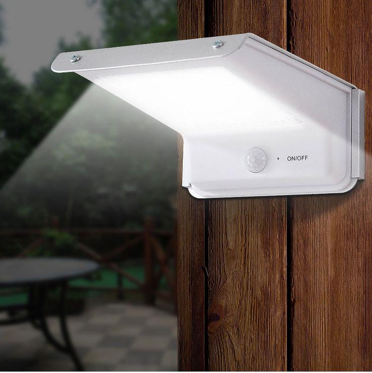 check price 20 led solar lamp motion sensor outdoor waterproof body induction sound control battery power #light #sensor