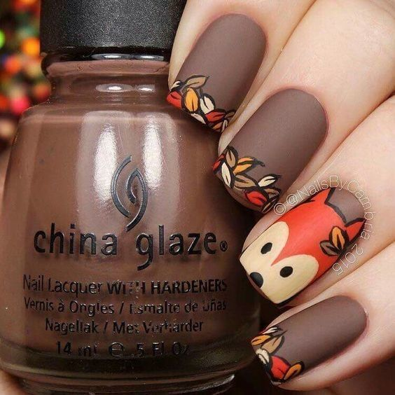 Fall Fox - These Cartoon Nail Art Designs Are A Total Blast From The Past - Photos