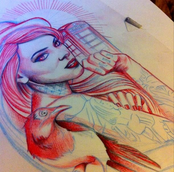 Arabella Drummond tattoo design @s0ur Grapes