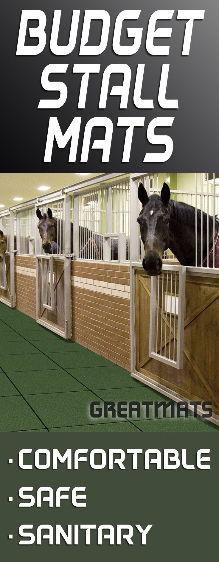 Horse stall mats don't have to be expensive. Here are some of the best stall mat options on a budget.