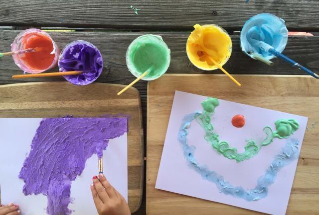 Cómo hacer pintura casera con crema de afeitar y pegamento líquido: Es hora de pintar