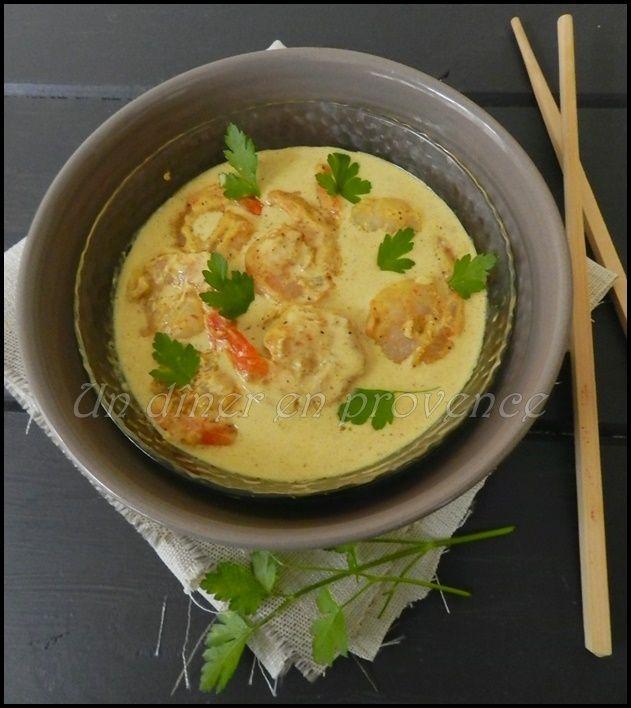 Curry de crevettes au lait de coco de Cyril Lignac
