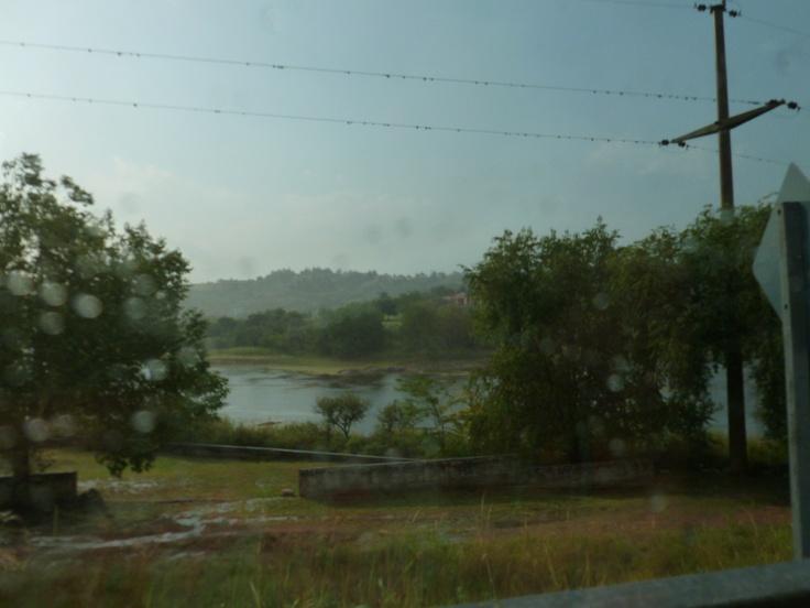 Lago San Roque después de la lluvia.