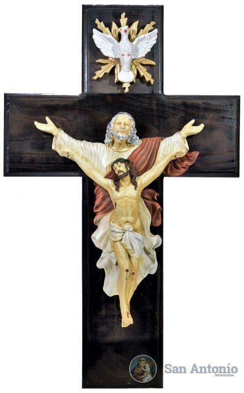 Cristo Trinitario: El Cristo Trinitario (pertenece a la tradición de la Orden de la Trinidad), es un Cristo Redimido, es decir, rescatado del cautiverio, de forma que puede aparecer, al mismo tiempo, como Redentor, dentro de la más honda tradición de la Iglesia.