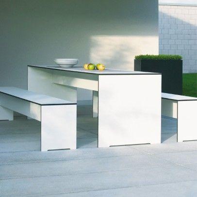 Awesome Riva Bank ohne Lehne Conmoto erfreut mit geradlinigem Design f r Haus u Garten bestellen Sie Ihre Ess u Gartenm bel im ikarus de Onlineshop