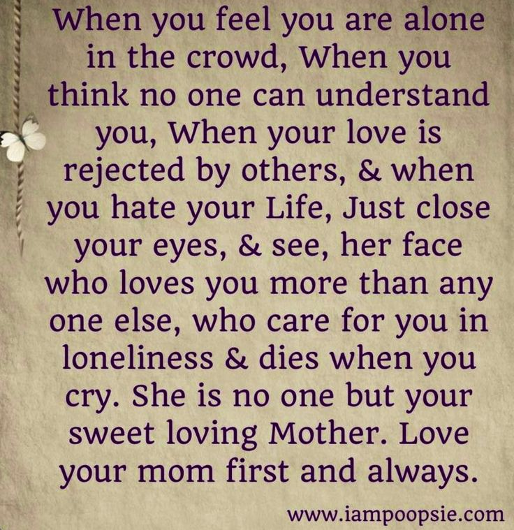 Love Quotes For Mom: Mother Quote Via Www.IamPoopsie.com