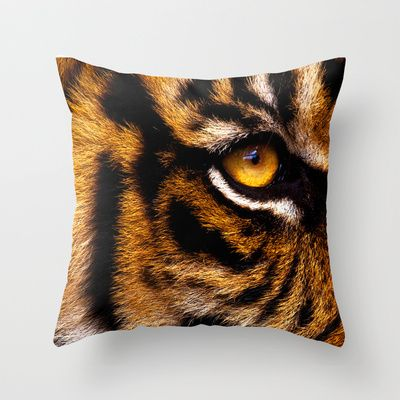 HIS ROYAL STRIPEYNESS Throw Pillow by catspaws - $20.00