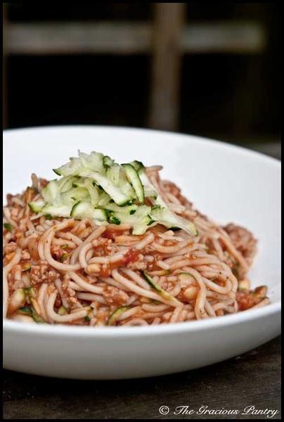 Ground turkey spaghetti.